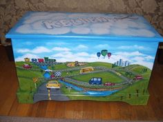 Personalized TRANSPORTATION Toy Box, kids room decor, personalized, furniture decor, art and decor - Kartusmanya