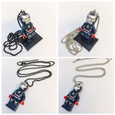 A personal favorite from my Etsy shop https://www.etsy.com/listing/235980099/lego-iron-patriot-necklace-captain-james