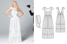 Patron robe mariée Burda 7257  Sew Do it!  Pinterest  Robes and ...