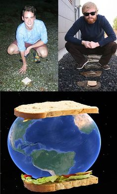 "One in Iceland and One in New Zealand. The Biggest Sandwich of All Time. - Funny memes that ""GET IT"" and want you to too. Get the latest funniest memes and keep up what is going on in the meme-o-sphere. Funny Shit, Funny Cute, The Funny, Funny Jokes, Hilarious, Funny Stuff, Funny Commercials, Funny Minion, Funny Pranks"