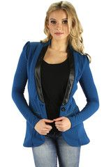 Fleece Blazer | Lagoon Blue - Large