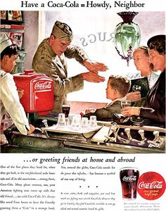 Have a Coca-Cola = Howdy, Neighbor -Douglass Crockwell