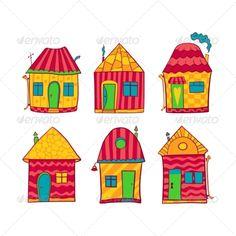 Resultado De Imagen Para Dibujos Casas Colores Casas Casas Casa
