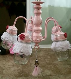 Pink Chandelier - Princess Chandelier - Crystal Chandelier - Created by So Chandy'lous! We do special orders. Visit us on Etsy.com - SoChandylous
