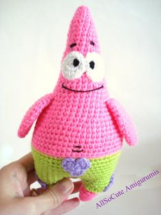 Pattern Patrick Star Pattern Crochet Tutorial by AllSoCute on Etsy