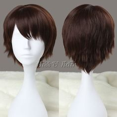 Free Shipping 30cm short brown Cosplay Costume Wig Anime Wigs synthetic wigs for men/man-in Wigs from Beauty & Health on Aliexpress.com