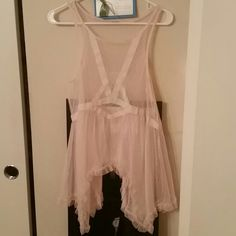 Free people lace tunic Free people sheer lace dot tunic Free People Dresses Mini