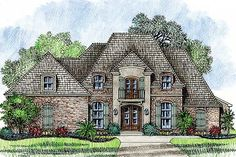 Graceful and Elegant 4 Bed Acadian House Plan - 14127KB | Acadian, European, French Country, Photo Gallery, 1st Floor Master Suite, Bonus Room, Butler Walk-in Pantry, Jack & Jill Bath, MBR Sitting Area, PDF | Architectural Designs