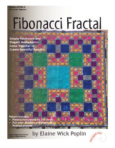 FIBONACCI QUILT............PC..................Fibonacci Fractal Quilt Pattern (PDF Download) by messygoatsews on Etsy