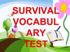 SURVIVAL VOCABULARY TEST.pptx - Google Drive Heart Border, Google Drive, Vocabulary, Survival, Vocabulary Words
