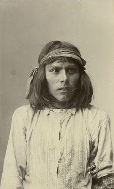 "Cobb Studio (1862-1945), Isleta Pueblo Man, New Mexico – ca. 1890-1900Albumen Print 7.50"" x 4.50"" - Negative #002721"