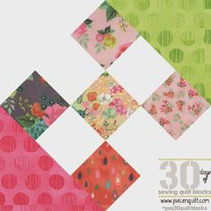 Piece N Quilt: How to: Crossroads to Jericho Quilt Block - 30 Days of Sewing Quilt Blocks-After I designed the scrappy version of Thirteen Squares yesterday I was totally in a vintagey (is that even a word?) mood! I had to create another vintage inspired quilt. So, today I'll be teaching you how to make: Crossroads to Jericho