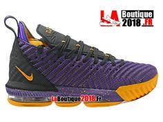 Nike Lebron 16 EP LBJ Pourpre/Noir/Jaune Chaussures Officiel Nike Basket Prix Pour Homme