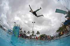 """Norwegian sport of """"Dodsing"""" or """"Death Diving"""" is basically a belly flop contest…"""