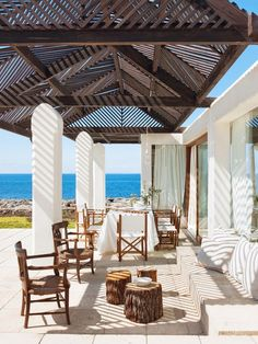 Outdoor living.  A summer house in Menorca
