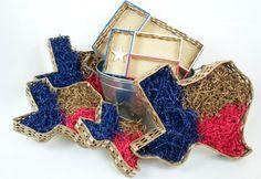 "11"" Handmade Texas Shaped Basket"