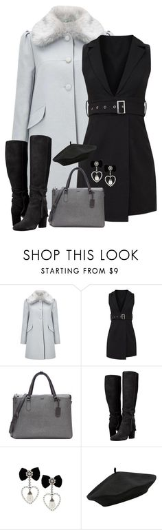 """""""Fur Collar Coat & Dress"""" by majezy ❤ liked on Polyvore featuring Miss Selfridge, Tumi and M&Co"""