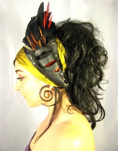 c40c6806a09 Feather leather head band head wear tribal boho by Renegadeicon