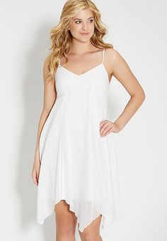 babydoll dress with hanky hem | maurices