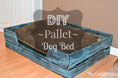 My Creative Way: DIY Pallet Dog Bed for FREE