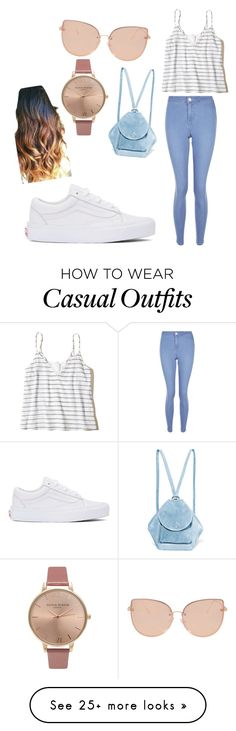 """""""casual"""" by hidayethidou on Polyvore featuring New Look, Hollister Co., Vans, MANU Atelier, Topshop and Olivia Burton"""