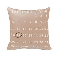 Help those men in your life remember this important date, or give as a gift to the newlyweds! Anniversary gift ideas for him #anniversary #wedding #gift #pillow #decor