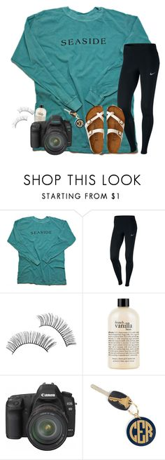"""S E A S I D E"" by preppypuffpuff on Polyvore featuring NIKE, e.l.f., philosophy, Canon, Hartford and American Eagle Outfitters"