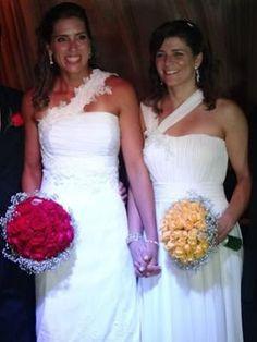 O casamento das jogadoras de vôlei Larissa e Lili