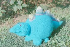 crocheted stuffed dinosaur by annanicolecrochet on Etsy, $60.00