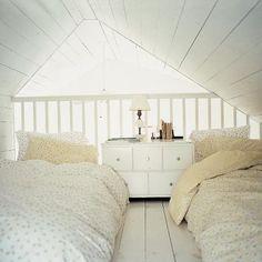 Fluffy sleeping loft.