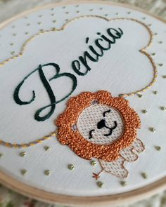 The best of both worlds! Hand Embroidery Videos, Baby Embroidery, Simple Embroidery, Learn Embroidery, Hand Embroidery Stitches, Embroidery Hoop Art, Hand Embroidery Designs, Embroidery Techniques, Lion Mane