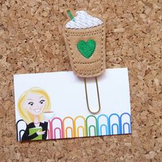TheBookNookPatch Etsy Felt Frappuccino magnet