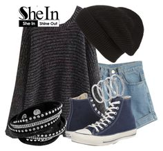 """""""SheIn"""" by deedee-pekarik ❤ liked on Polyvore featuring moda, WithChic, Converse, Phase 3, Vince Camuto, Sweater, blacksweater e shein"""