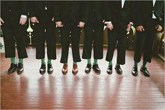 Groomsmen & Groom Wedding Day Idea | Wear matching fun socks