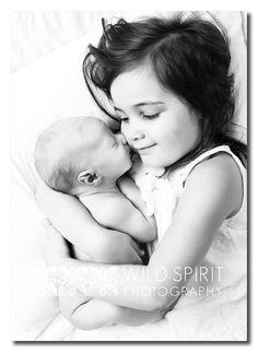 Darling little Kaide and his doting sister Tia ~ Brisbane newborn photographer  Wild Spirit Photography
