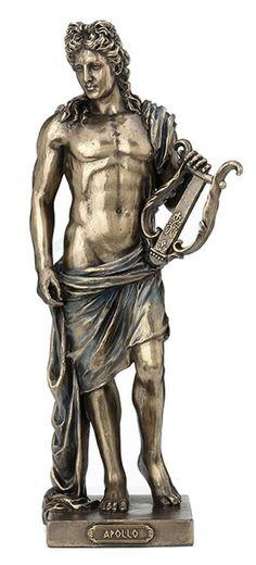 Greek God of music Apollo (Decorative bronze statue, figurine / Apollo Mythology, Greek Mythology Gods, Greek Gods And Goddesses, Apollo Tattoo, Apollo Aesthetic, Apollo Statue, Apollo And Artemis, Rome, Greek Pantheon