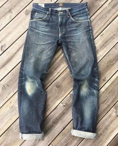 "Reposting @robindenim: ... ""19 oz. LEE 101Z after only 63 days of wearing  @sennah0j"" Denim jeans pant selvedge"