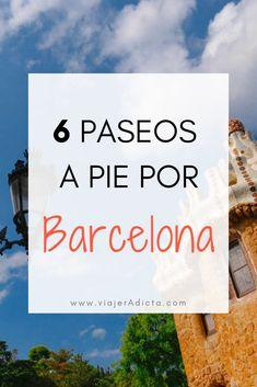 Tienes que hacer al menos uno de estos paseos por Barcelona! #viaje #barcelona #paseos Barcelona Travel, Madrid Barcelona, European Tour, European Travel, Solo Travel, Travel Tips, Best Places To Travel, Places To Go, Travel Around The World