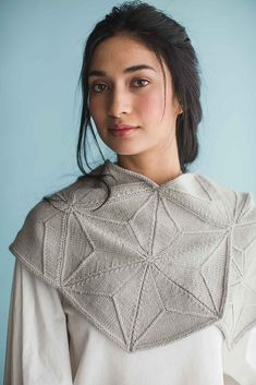 Wool Studio Vol. The Norah Gaughan Collection eBook, original knitting pattern, cowl Lace Knitting Stitches, Knitting Designs, Knitting Patterns, Knit Cowl, Knitted Shawls, Shawl Patterns, Knitwear, Signature Style, Triangles