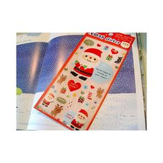 Cute Christmas stickers from Japan, on a see-through background. Size 10x22 cm.