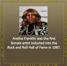 Aretha Franklin, Rock and Roll Hall of Fame 1987!