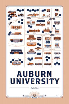 Auburn graphic design graduate creates unique map of AU campus (The War Eagle Reader)