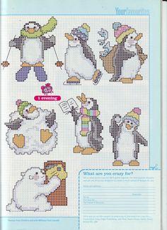 Cross stitch penguins