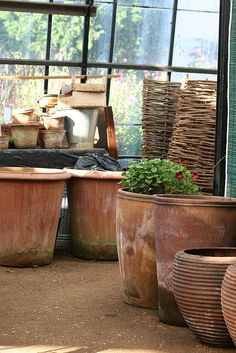 Petersham Nurseries. Richmond, London by shunafish, via Flickr. Lovely pots--inspires me to plant more!