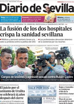 Los Titulares y Portadas de Noticias Destacadas Españolas del 29 de Mayo de 2013 del Diario de Sevilla ¿Que le parecio esta Portada de este Diario Español?