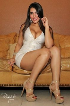 Sexy in hot dress latina