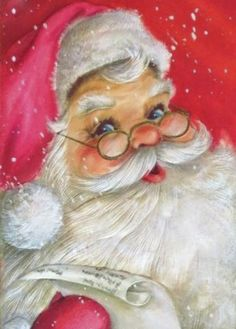 Jingle bell jingle bell jingle all the way Santa Claus is coming how much fun this day Christmas Rock, Father Christmas, Pink Christmas, Vintage Christmas Cards, Christmas Themes, Winter Christmas, Merry Christmas To All, Christmas Crafts, Santa Paintings