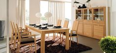Modern Dining Room Ideas: Contemporary Wood Modern Dining Room Ideas ~ interhomedesigns.com Dining Room Designs Inspiration