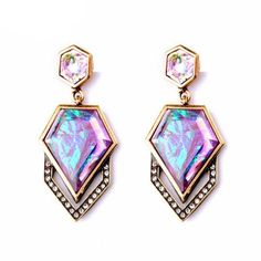 Geometric Crystal Mosaic Earrings