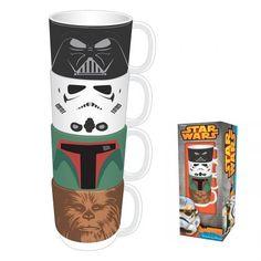 Des tasses empilables Star Wars, pour prendre le café avec tous les personnages de la saga !